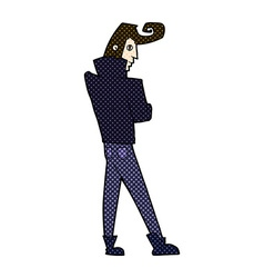 comic cartoon cool guy vector image