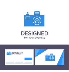 creative business card and logo template camera vector image