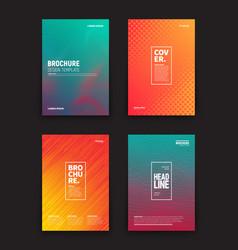 different brochures design templates vector image