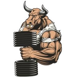 Ferocious strong bull vector