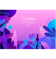 flat banner with florals vector image