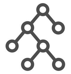 Flat binary tree icon vector