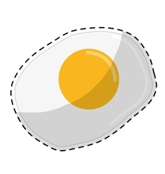 fried egg icon image vector image