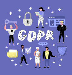 General data protection regulation concept gdpr vector