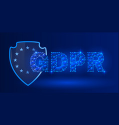 general data protection regulation glowing theme vector image