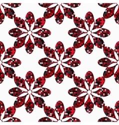 Geometric flowers seamless vector