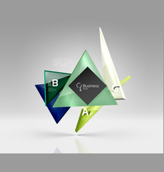 geometric glass triangles abstract background vector image