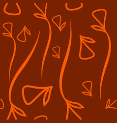 geometric pattern made from plant orange elements vector image
