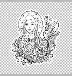 Girl character ornate vector