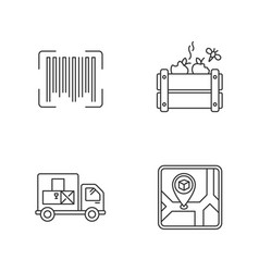 Goods availability and quality control pixel vector