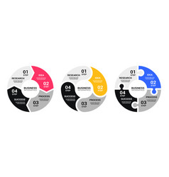 graphic round chart infographic template vector image