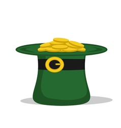 Green hat with coins vector