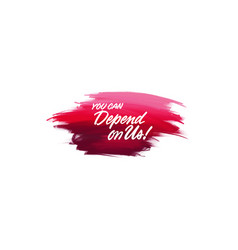 hand-written lettering brush phrase you can vector image