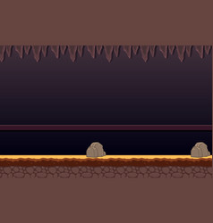 Haunted dungeon game background vector