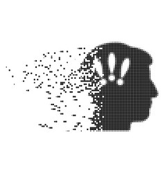 Head problems shredded pixel icon vector