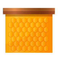 Honey frame icon cartoon style vector