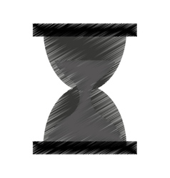 Hourglass watch isolated icon vector