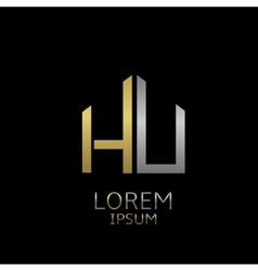 HU letters logo vector