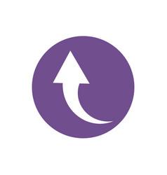 Icon return arrow in color circle vector
