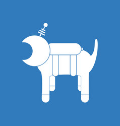 Icon space dog vector