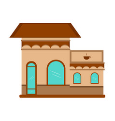 isoalted coffee shop vector image