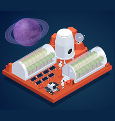 Isometric space base composition vector