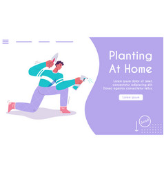 landing page planting at home concept vector image