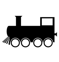 Locomotive icon vector image