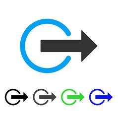 logout flat icon vector image
