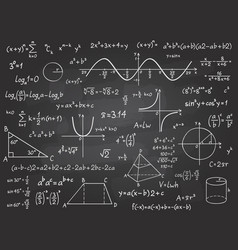 math formula mathematics calculus on school vector image