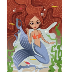 Mermaid Siren of the Sea vector image vector image