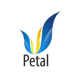modern petal flower logo concept design symbol vector image