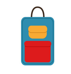 New bright simple travel suitcase vector
