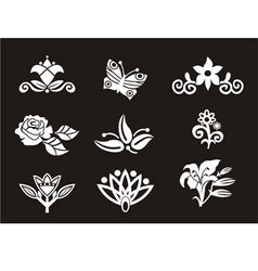 Nice floral set vector