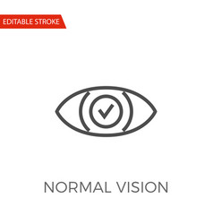 normal vision icon vector image