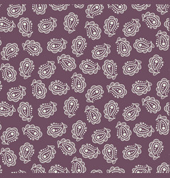 paisley burgundy simple indian pattern vector image