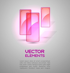 Pink Elements vector image
