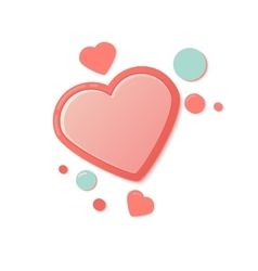 Pink hearts with drops Valentines Day Greeting vector