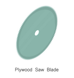 Plywood saw blade icon isometric 3d style vector