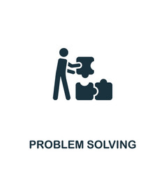 Problem solving icon from personal productivity vector