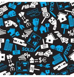 Real estate blue white and black pattern eps10 vector