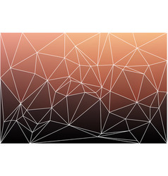 Red orange purple geometric background with mesh vector