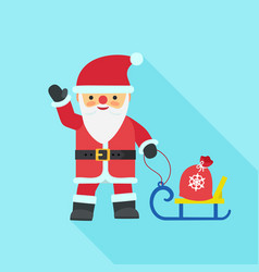 santa claus icon flat style vector image