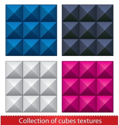 Seamless abstract cubes pattern vector image