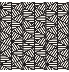 Seamless Black And White Geometric Triangle vector