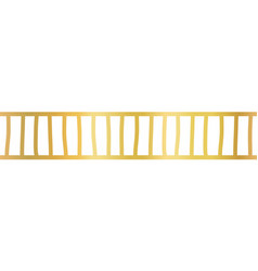 seamless horizontal gold foil border vector image