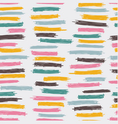 seamless pattern design with sloppy doodle stripe vector image