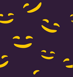 Seamless pattern of smiling halloween face vector