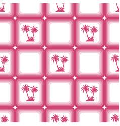 Seamless pattern palms vector