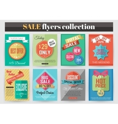 Set of colorful Sale flyers Best creative design vector
